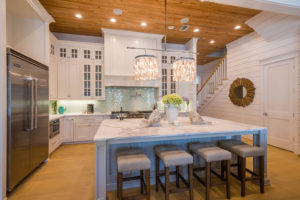 Coastal White Kitchen with Shiplap