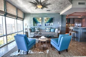 Coastal Contemporary Sitting Area by Lovelace Interiors