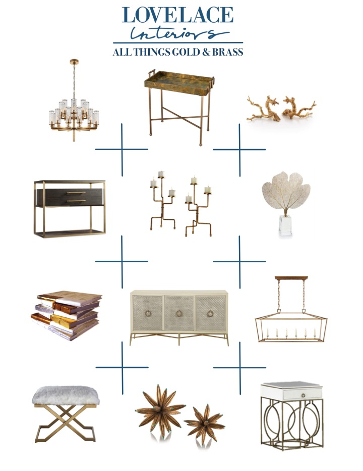 Gold & brass furnishings and home decor